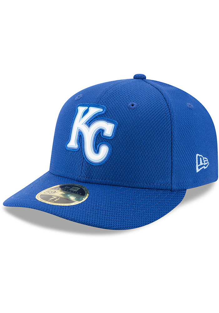 New Era Kansas City Royals Mens Blue Bevel Team 59FIFTY Fitted Hat - Image 1