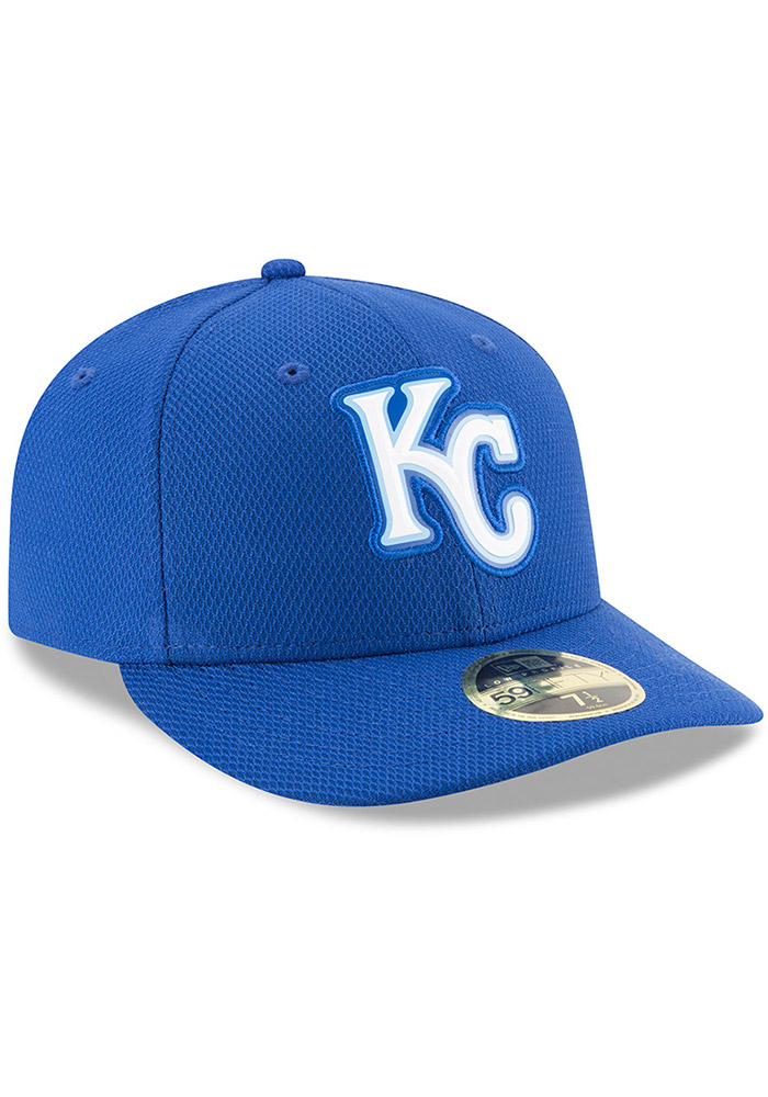 New Era Kansas City Royals Mens Blue Bevel Team 59FIFTY Fitted Hat - Image 2