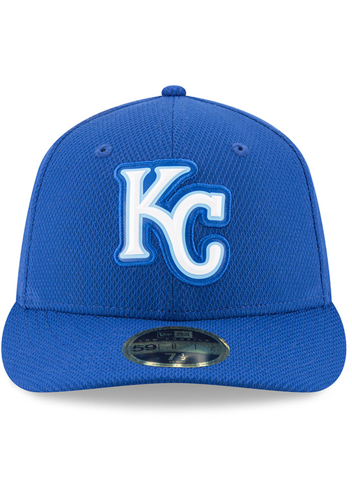 New Era Kansas City Royals Mens Blue Bevel Team 59FIFTY Fitted Hat - Image 3