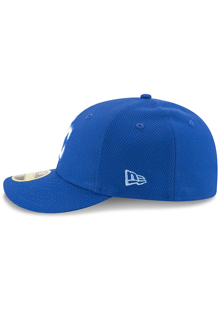 New Era Kansas City Royals Mens Blue Bevel Team 59FIFTY Fitted Hat - Image 4