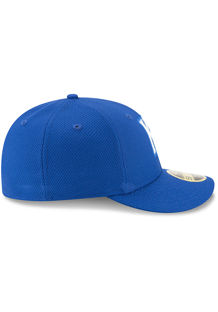 New Era Kansas City Royals Mens Blue Bevel Team 59FIFTY Fitted Hat - Image 6