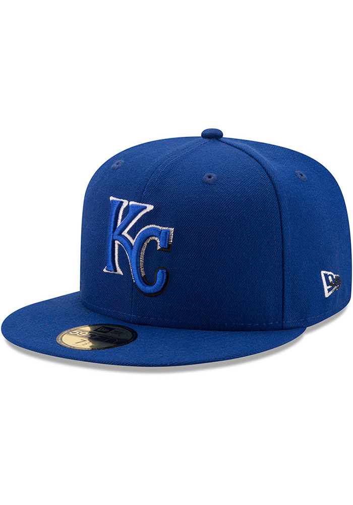 New Era Kansas City Royals Mens Blue Color Dim 59FIFTY Fitted Hat - Image 1