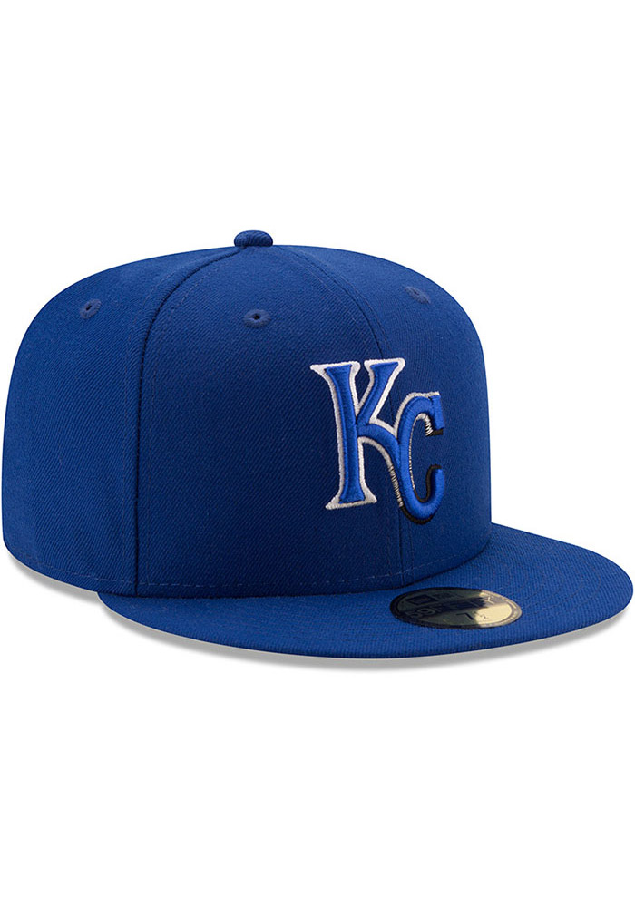 New Era Kansas City Royals Mens Blue Color Dim 59FIFTY Fitted Hat - Image 2