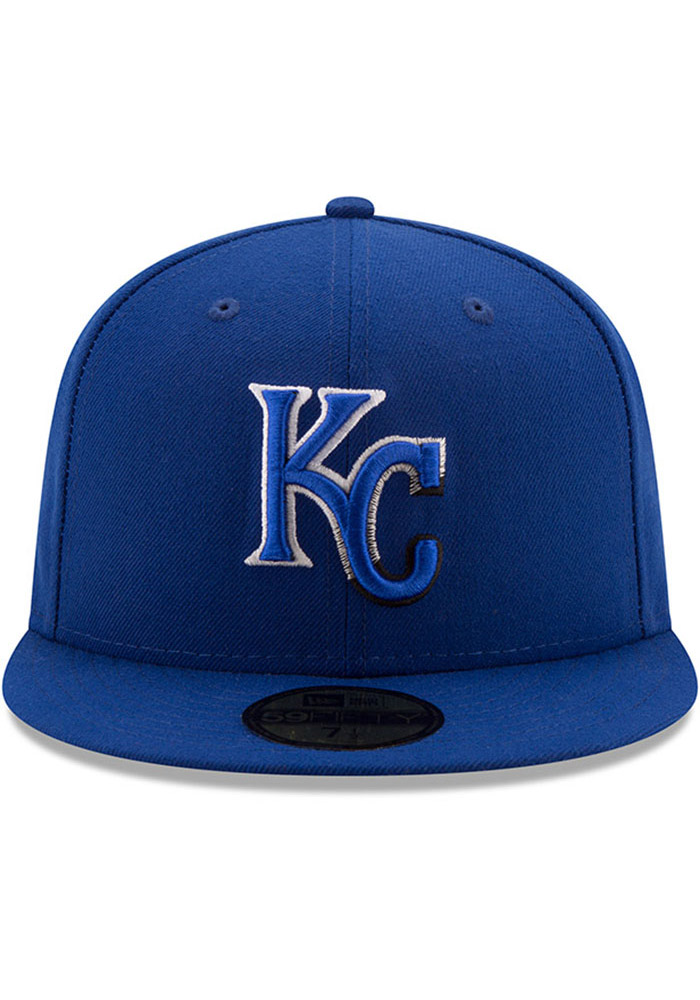 New Era Kansas City Royals Mens Blue Color Dim 59FIFTY Fitted Hat - Image 3