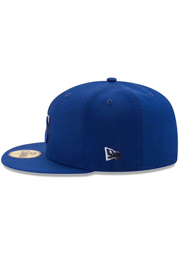 New Era Kansas City Royals Mens Blue Color Dim 59FIFTY Fitted Hat - Image 4