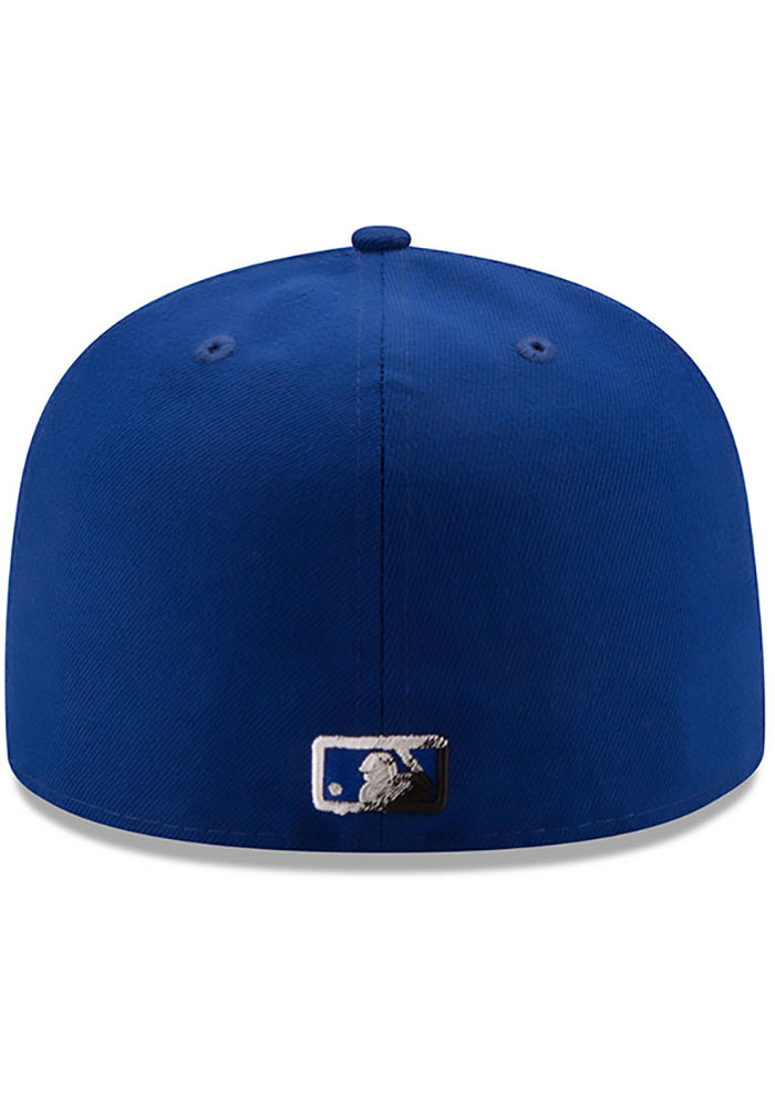 New Era Kansas City Royals Mens Blue Color Dim 59FIFTY Fitted Hat - Image 5