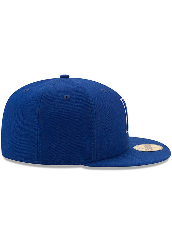 New Era Kansas City Royals Mens Blue Color Dim 59FIFTY Fitted Hat - Image 6