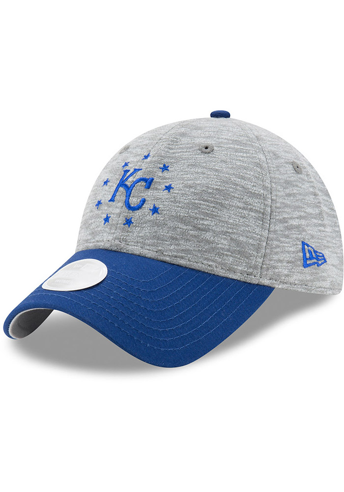New Era Kansas City Royals Grey Cloud Crown Womens Adjustable Hat - Image 1