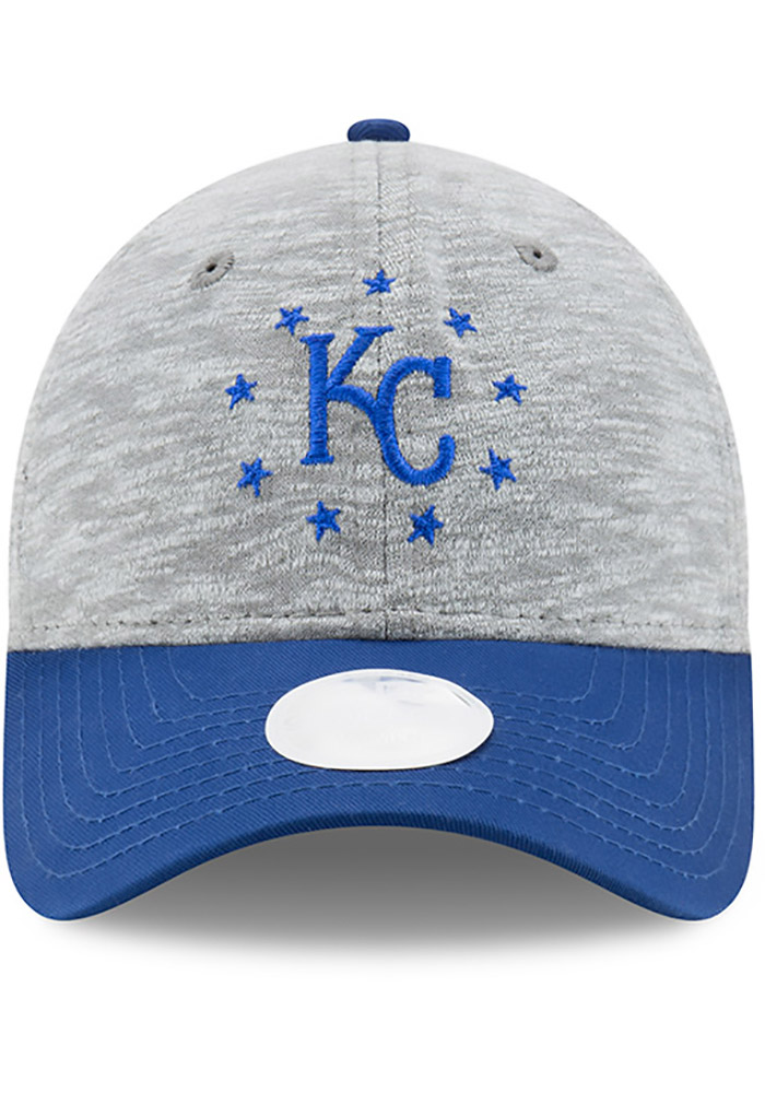 New Era Kansas City Royals Grey Cloud Crown Womens Adjustable Hat - Image 3