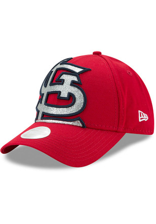 New Era St Louis Cardinals Red Glitter Glam 3 9FORTY Adjustable Hat