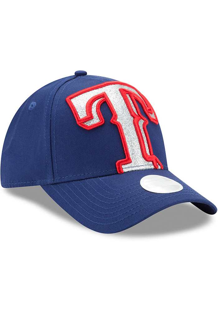 New Era Texas Rangers Blue Glitter Glam 3 9FORTY Womens Adjustable Hat - Image 2