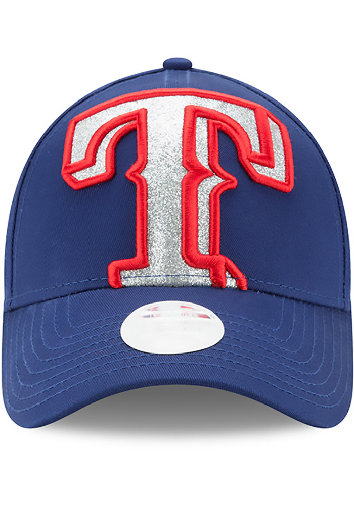 New Era Texas Rangers Blue Glitter Glam 3 9FORTY Womens Adjustable Hat - Image 3