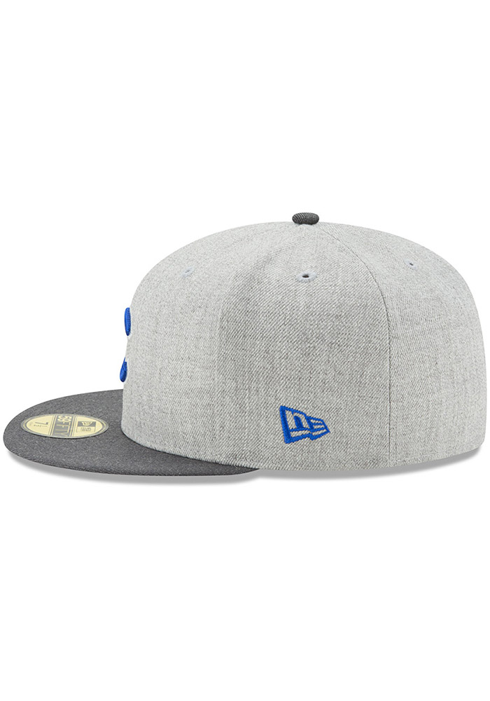 New Era Chicago Cubs Mens Grey Heather Action Fitted 59FIFTY Fitted Hat - Image 4