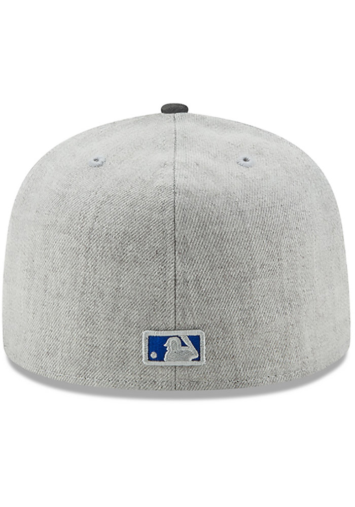 New Era Chicago Cubs Mens Grey Heather Action Fitted 59FIFTY Fitted Hat - Image 5