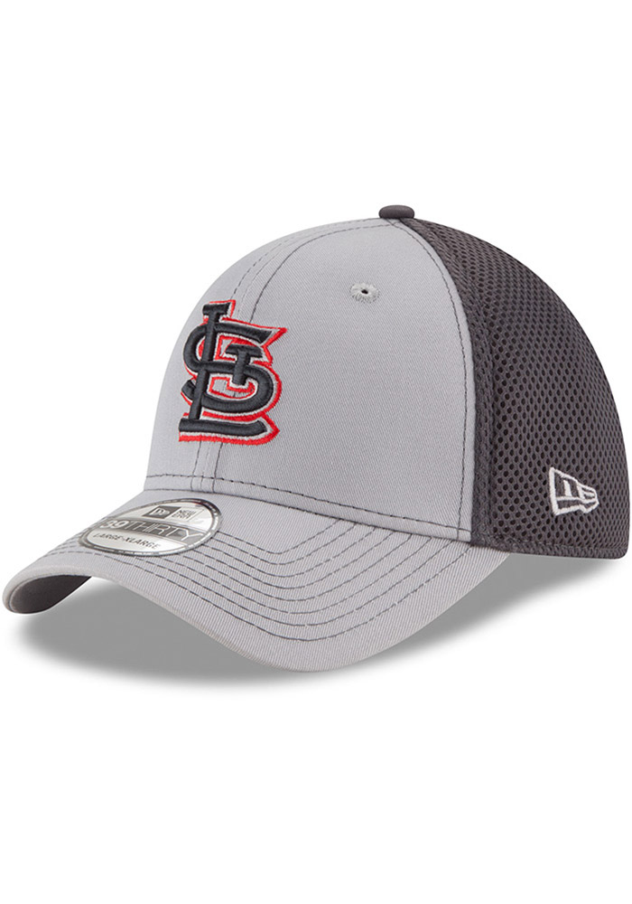 St Louis Cardinals Grey Jr Grayed Out Neo 39THIRTY Youth Flex Hat - Image 1