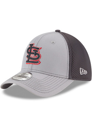 New Era St Louis Cardinals Grey Jr Grayed Out Neo 39THIRTY Kids Flex Hat