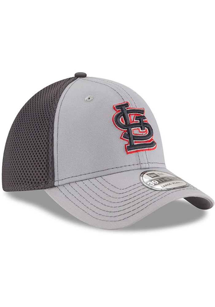 St Louis Cardinals Grey Jr Grayed Out Neo 39THIRTY Youth Flex Hat - Image 2