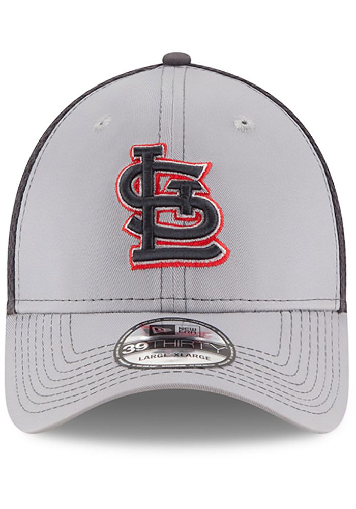 St Louis Cardinals Grey Jr Grayed Out Neo 39THIRTY Youth Flex Hat - Image 3