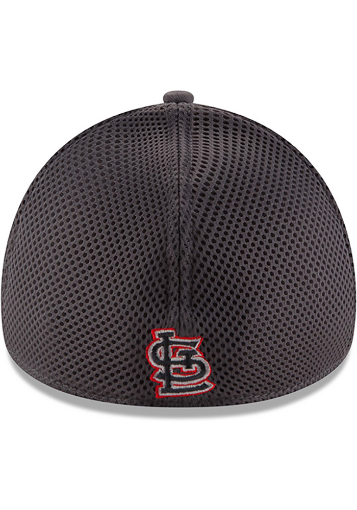 St Louis Cardinals Grey Jr Grayed Out Neo 39THIRTY Youth Flex Hat - Image 5