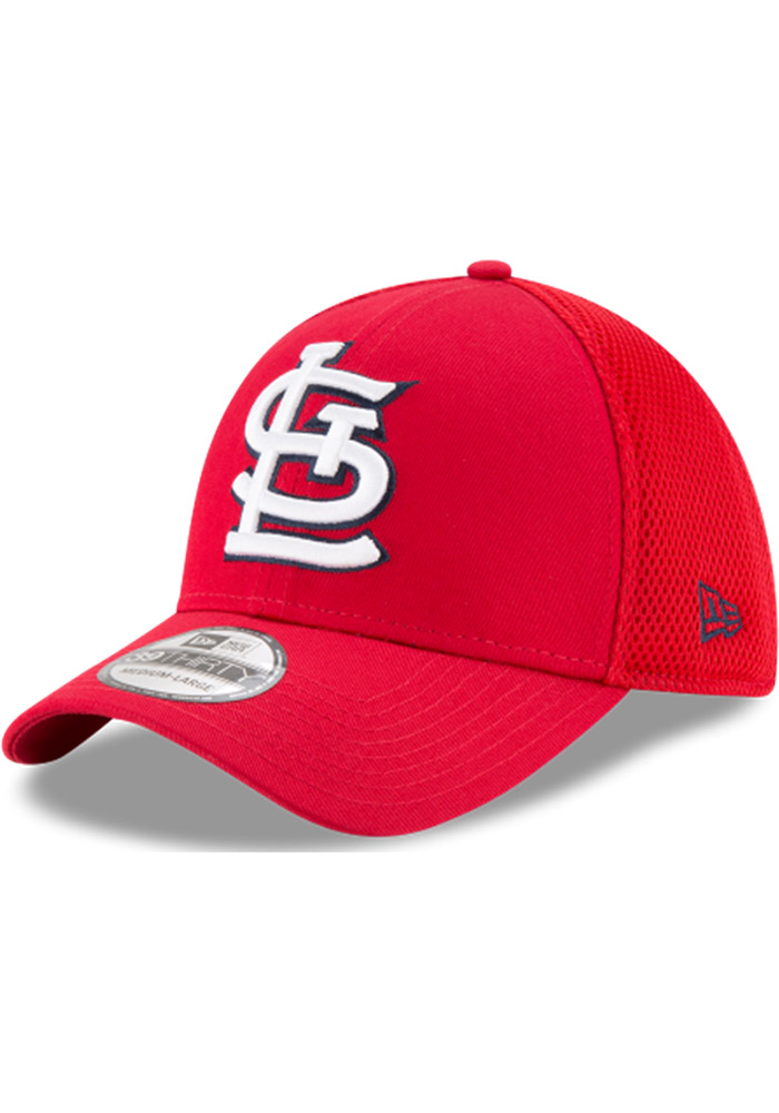 St Louis Cardinals Red Jr Mega Team Neo 39THIRTY Youth Flex Hat - Image 1