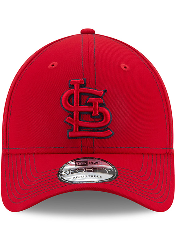 New Era St Louis Cardinals League Classic 9FORTY Adjustable Hat - Red - Image 3