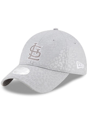 New Era St Louis Cardinals Womens Grey Leopard Flect Adjustable Hat f63216f2d5