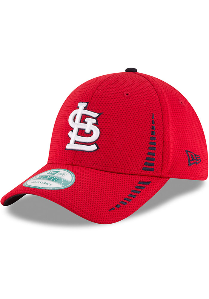 New Era St Louis Cardinals NE Speed 9FORTY Adjustable Hat - Red - Image 1