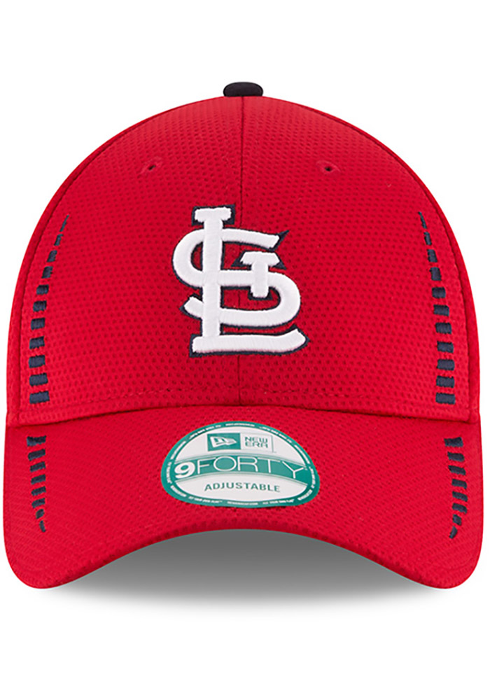 New Era St Louis Cardinals NE Speed 9FORTY Adjustable Hat - Red - Image 3