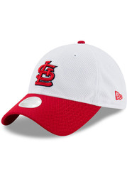 St Louis Cardinals Womens New Era Perfect Perf Adjustable - White