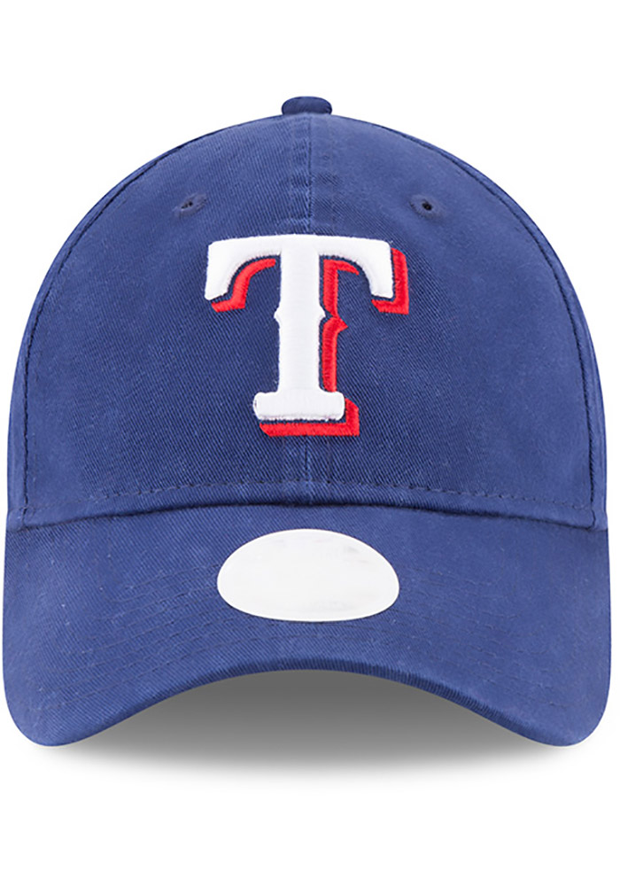 New Era Texas Rangers Blue Preferred Pick Womens Adjustable Hat - Image 1