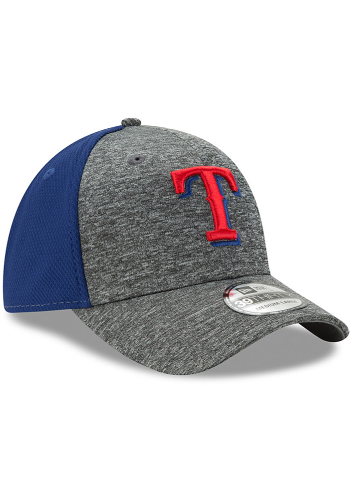 New Era Texas Rangers Mens Grey Shadow Blocker 39THIRTY Flex Hat - Image 2