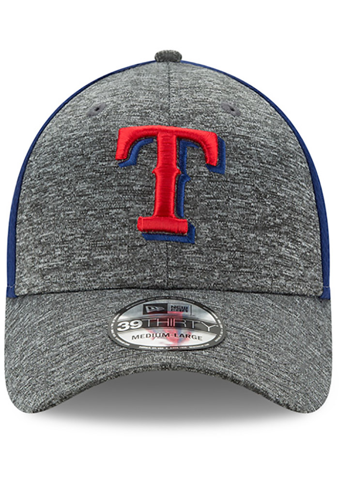 New Era Texas Rangers Mens Grey Shadow Blocker 39THIRTY Flex Hat - Image 3