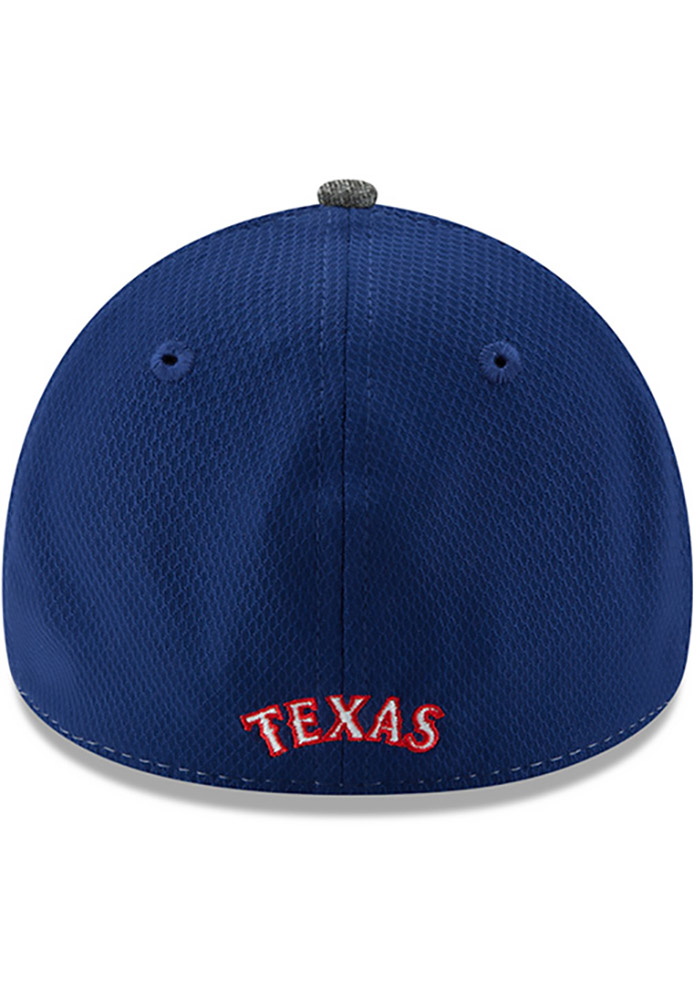 New Era Texas Rangers Mens Grey Shadow Blocker 39THIRTY Flex Hat - Image 5
