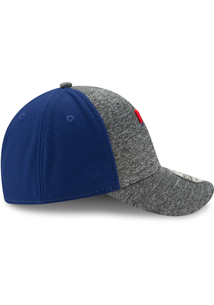 New Era Texas Rangers Mens Grey Shadow Blocker 39THIRTY Flex Hat - Image 6
