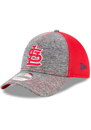 New Era St Louis Cardinals Mens Grey Shadow Turn 9FORTY Adjustable Hat