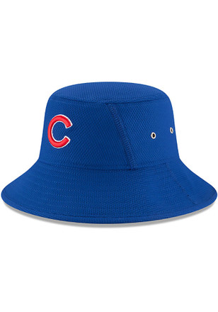 New Era Chicago Cubs Mens Blue 2017 Clubhouse Bucket Flex Hat