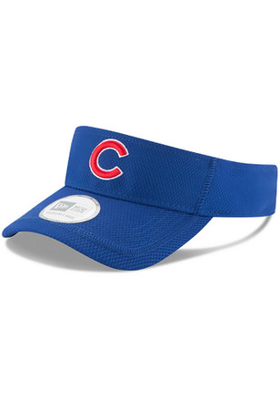 New Era Chicago Cubs Mens Blue 2017 Clubhouse Adjustable Visor