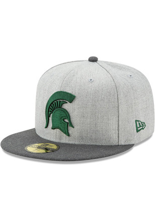MSU New Era Mens Grey Heather Action 59FIFTY Fitted Hat