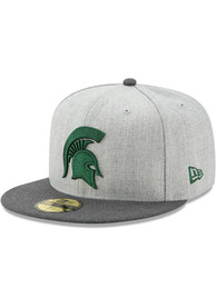 Michigan State Spartans New Era Grey Heather Action 59FIFTY Fitted Hat