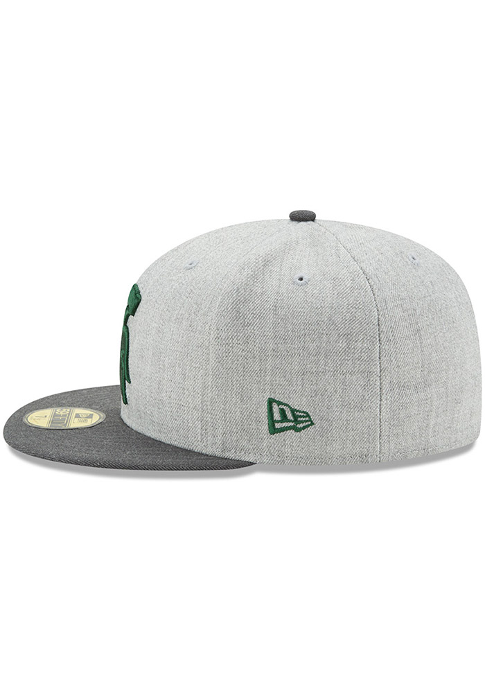 new styles 559a7 3f966 New Era Michigan State Spartans Mens Grey Heather Action 59FIFTY Fitted Hat  - Image 4