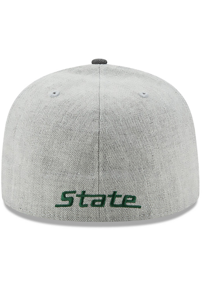 online store 27d26 f2ca5 New Era Michigan State Spartans Mens Grey Heather Action 59FIFTY Fitted Hat  - Image 5