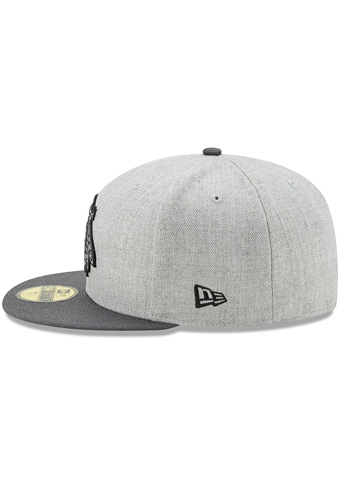 New Era Chicago Blackhawks Mens Grey Heather Action 59FIFTY Fitted Hat - Image 4