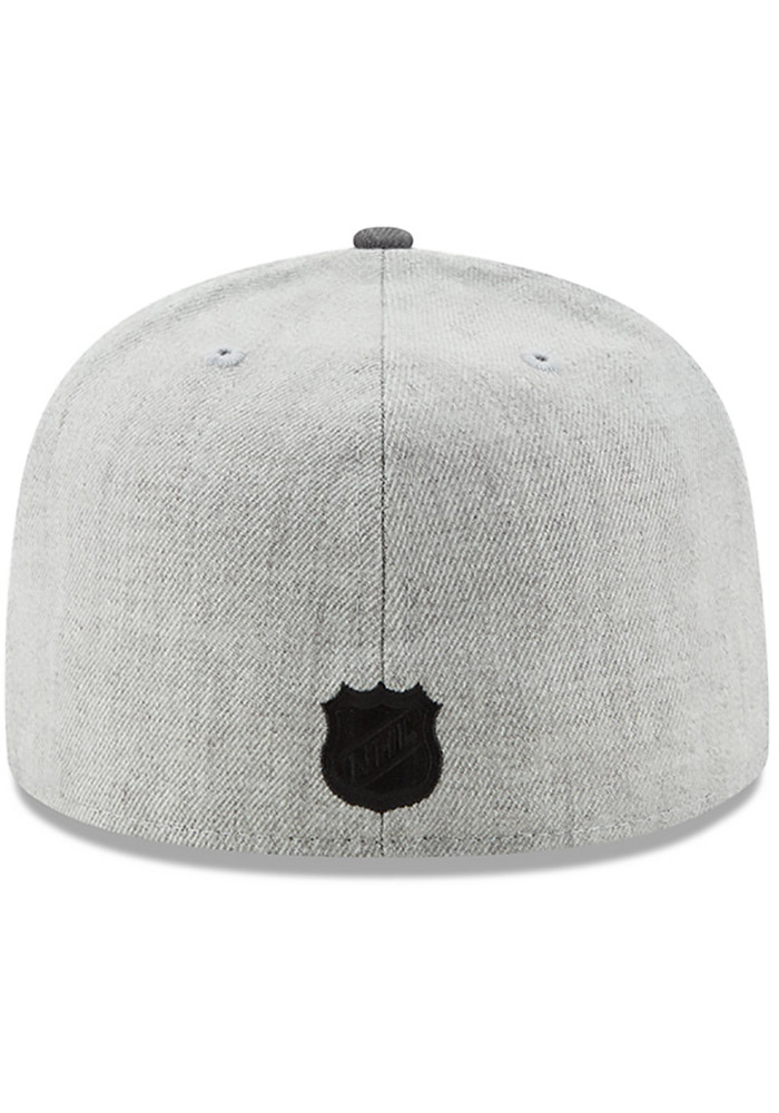 New Era Chicago Blackhawks Mens Grey Heather Action 59FIFTY Fitted Hat - Image 5