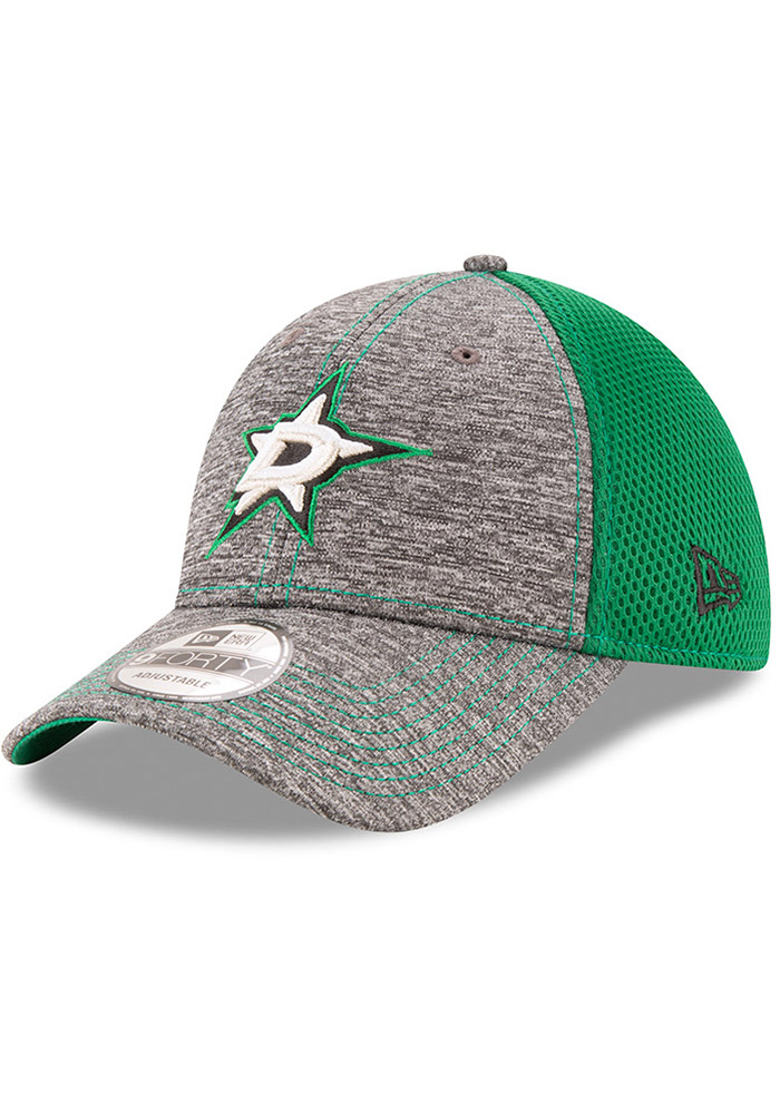 New Era Dallas Stars Shadow Turn 9FORTY Adjustable Hat - Grey - Image 1