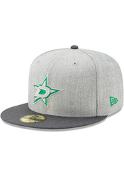 Dallas Stars New Era Heather Action 59FIFTY Fitted Hat - Grey