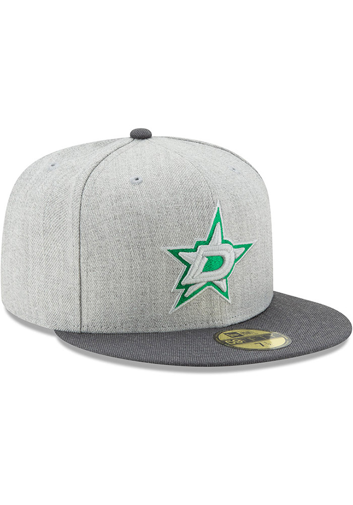 New Era Dallas Stars Mens Grey Heather Action 59FIFTY Fitted Hat - Image 2