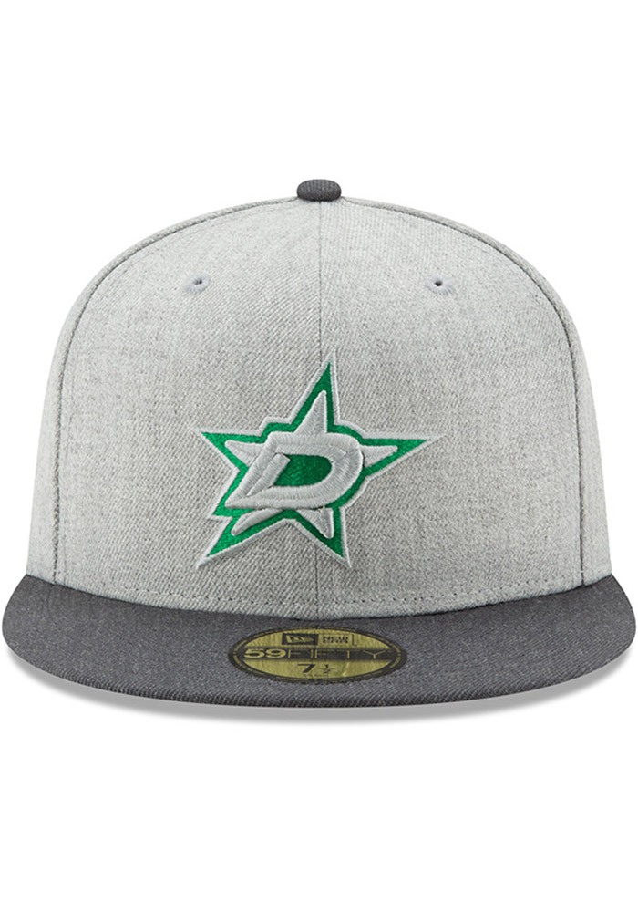 New Era Dallas Stars Mens Grey Heather Action 59FIFTY Fitted Hat - Image 3