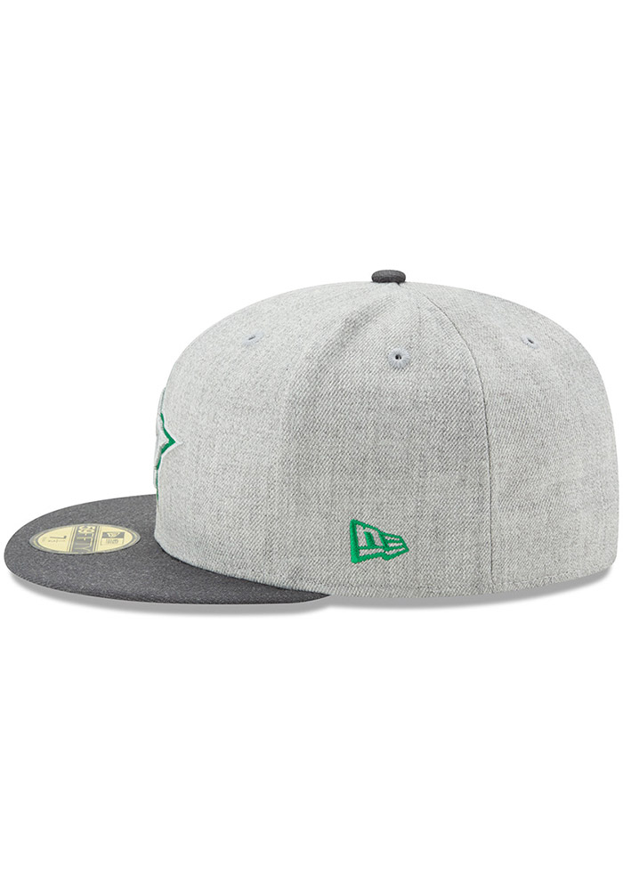 New Era Dallas Stars Mens Grey Heather Action 59FIFTY Fitted Hat - Image 4