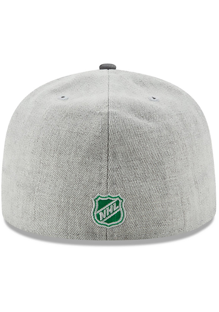 New Era Dallas Stars Mens Grey Heather Action 59FIFTY Fitted Hat - Image 5