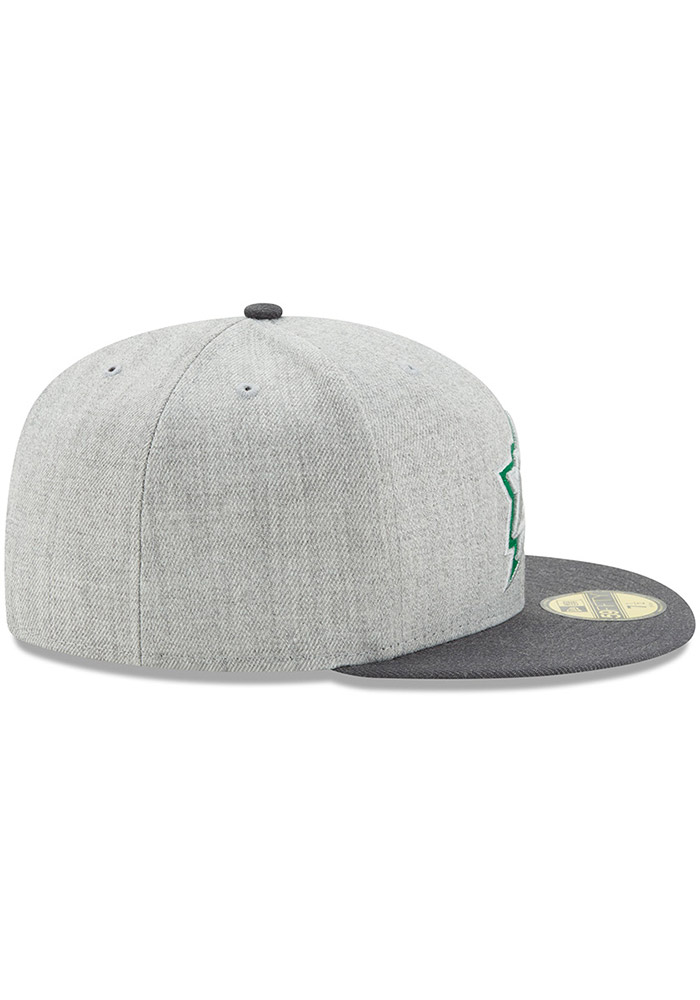 New Era Dallas Stars Mens Grey Heather Action 59FIFTY Fitted Hat - Image 6